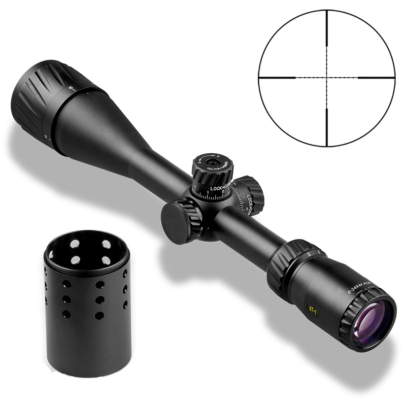 Image 2 - DDartsGO VT 1 6 24X44AOE Shooting Hunting Outdoor riflescope Rifle Scope Red Green Illuminated Crosshair Reticle Sights Rifle-in Riflescopes from Sports & Entertainment