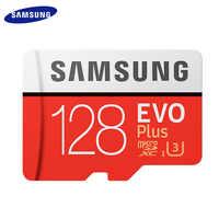 100% GB de Cartão de Memória Original SAMSUNG 32 64 GB 128 GB 256 GB Classe Alta Velocidade 10 UHS-1 Micro SD EVO MAIS Cartão TF