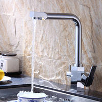 Kitchen Basin Waterfilter Taps Basin Simple and Stylish Faucet Hot and Cold Water Mixing Basin Bath Classic Faucet Bath