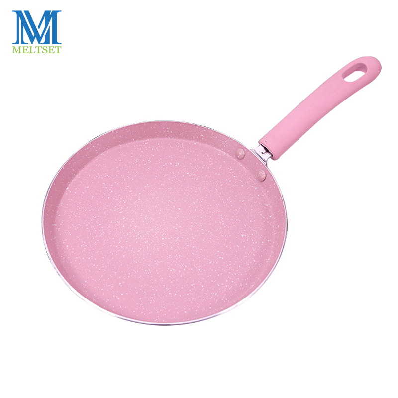 Meltset 6/8inch Non-stick Frying Pan Stainless Steel Fry Skillet Pan For Kitchen Grill Pancake Egg Pizza Pans Induction Cooker