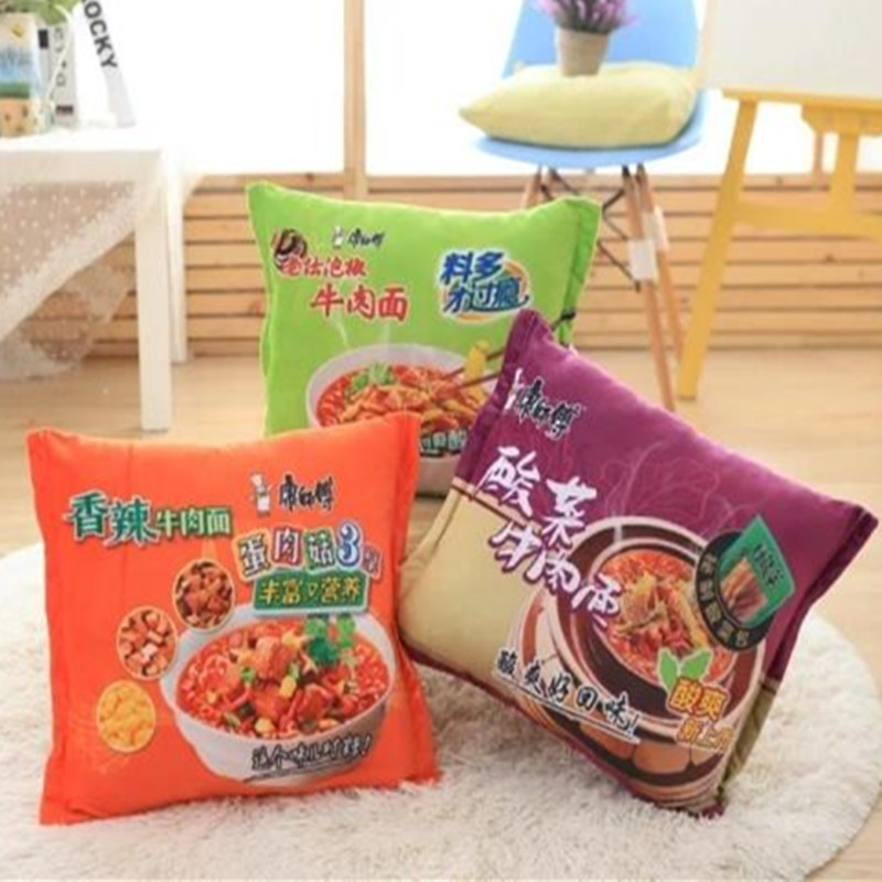 Creative Instant Noodles Pillow Cute Plush Toy Doll Pillow Nap Office Chair Cushion To Send A Friend A Gift