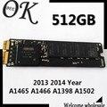 Оригинал 512 ГБ SSD Для Macbook A1465 A1466 A1398 A1502 2013 2014 Год Твердотельные Накопители