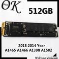 Original 512 gb ssd para macbook a1465 a1466 a1398 a1502 2013 2014 año unidades de estado sólido