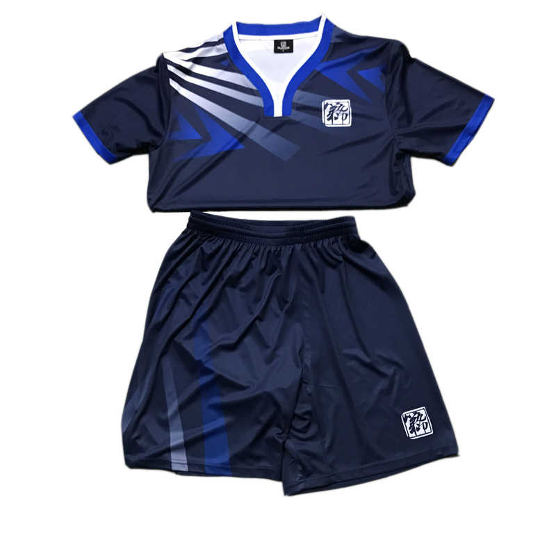 48500a369a2 ... Free Shipping New 17 18 Nice Blue Color Men s Soccer Jerseys Sets Can  Customize Name Soccer
