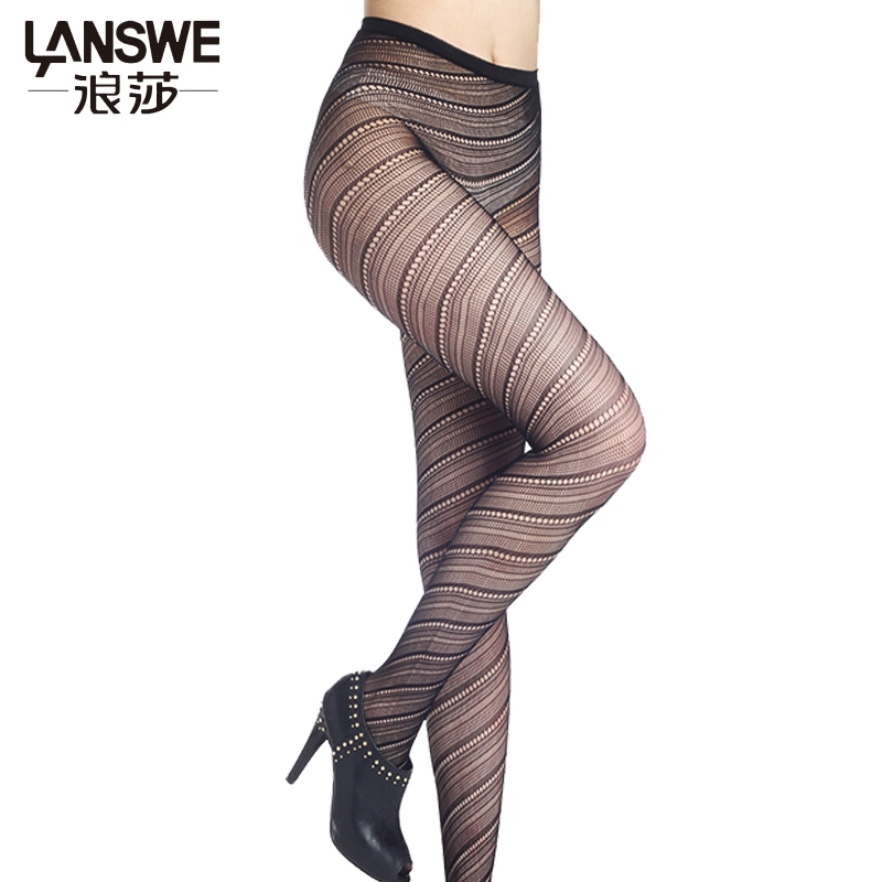 LANSWE 2017 Sexy hollow out women summer fish net pantyhose female mesh black tights stocking lady club party hosiery