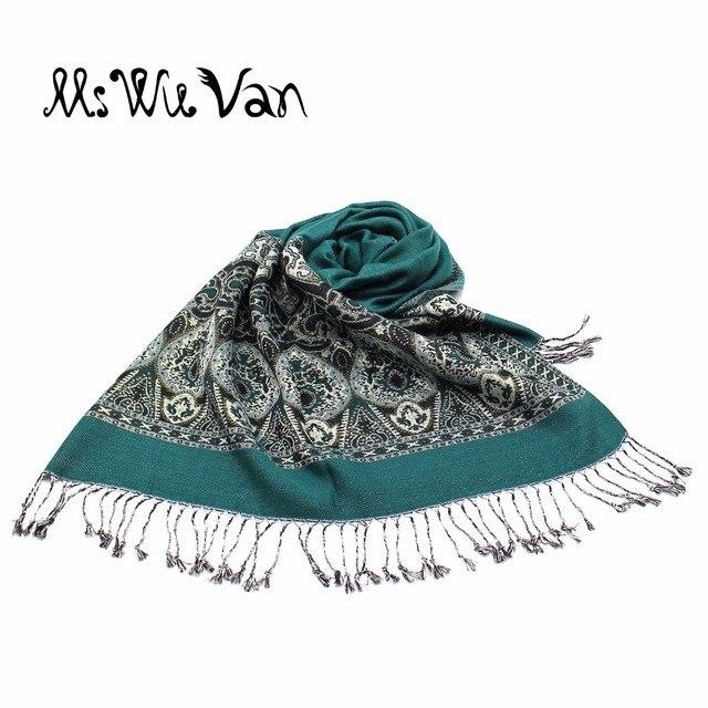Chalina de Paisley de la India bufanda de invierno bufandas turquesa de algodón Pashmina para mujeres Echarpe de gran tamaño chales de moda étnica