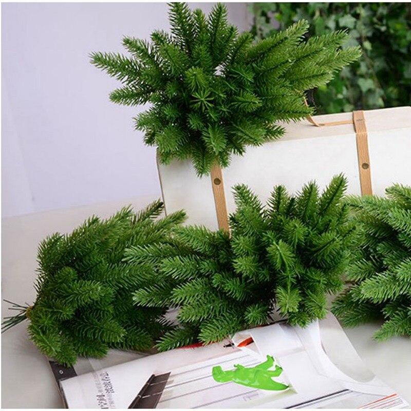 10 шт./компл. искусственный цветок искусственные растения Моделирование сосновые иглы ветви для рождественской вечеринки украшения стрельба реквизит CLL9008