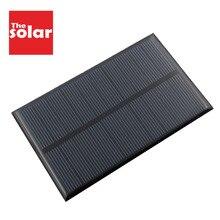 5 в 1,25 Вт солнечные панели 250 мАч монокристаллический кремниевый эпоксидный модуль мини солнечные батареи для зарядки сотового телефона батарея