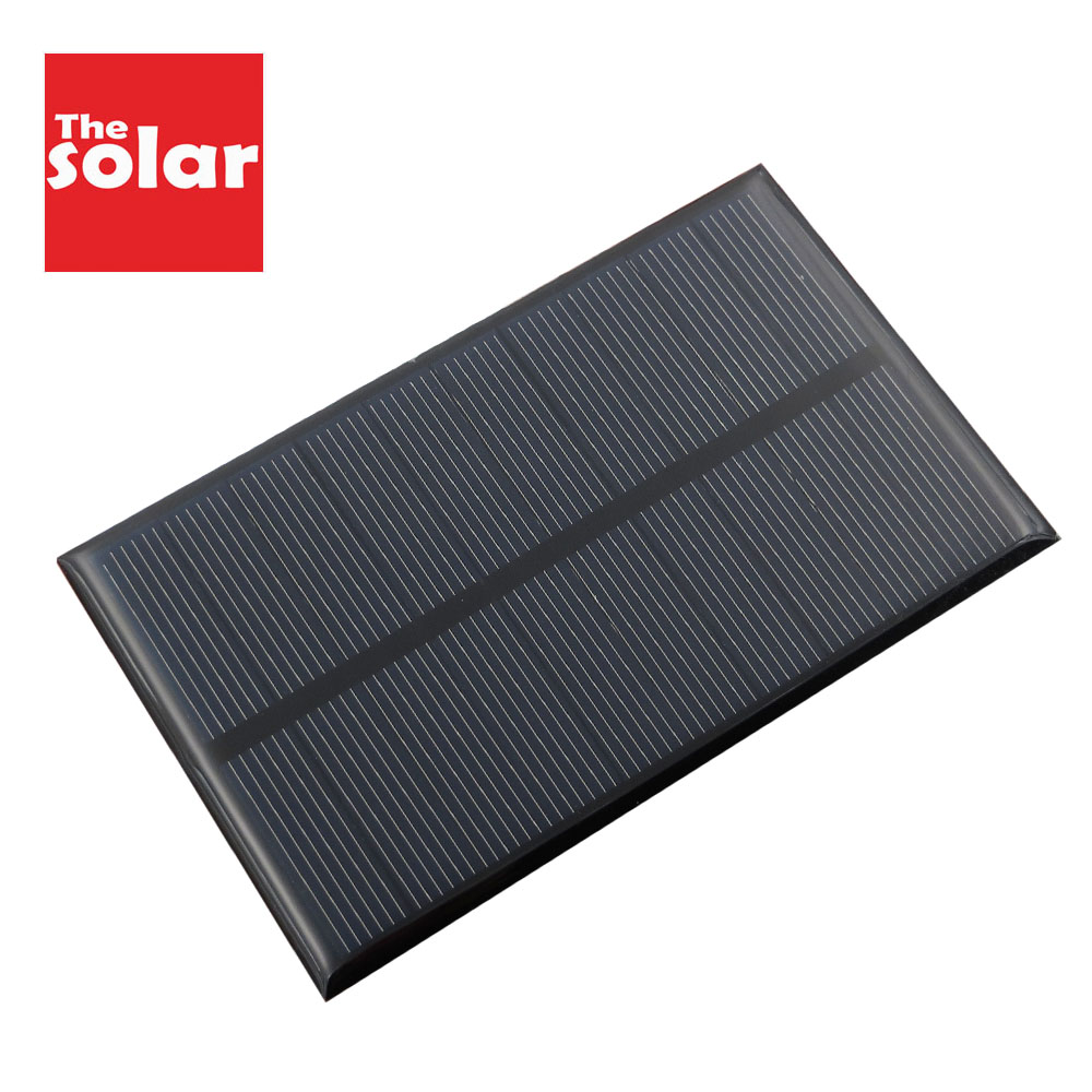 5V 1.25 W Solar Panels 250mAh Monocrystalline Silicon Epoxy Module Mini Solar Cells For Charging Cellphone Battery Wholesale