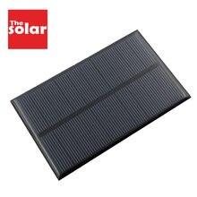 Painéis solares 1.25 w 5v, 250mah, módulo epóxi de silicone mini células solares para carregamento de bateria de celular por atacado