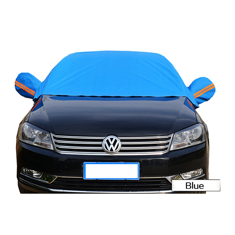 Universal Half Car Covers Sunshade Styling Foil Waterproof Thicken Car Snow Shield Anti UV Snow Protection