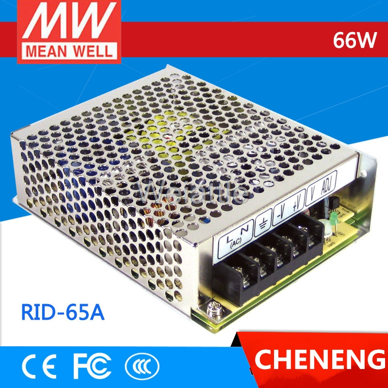 цена на MEAN WELL original RID-65A meanwell RID-65 66W Dual Output Switching Power Supply
