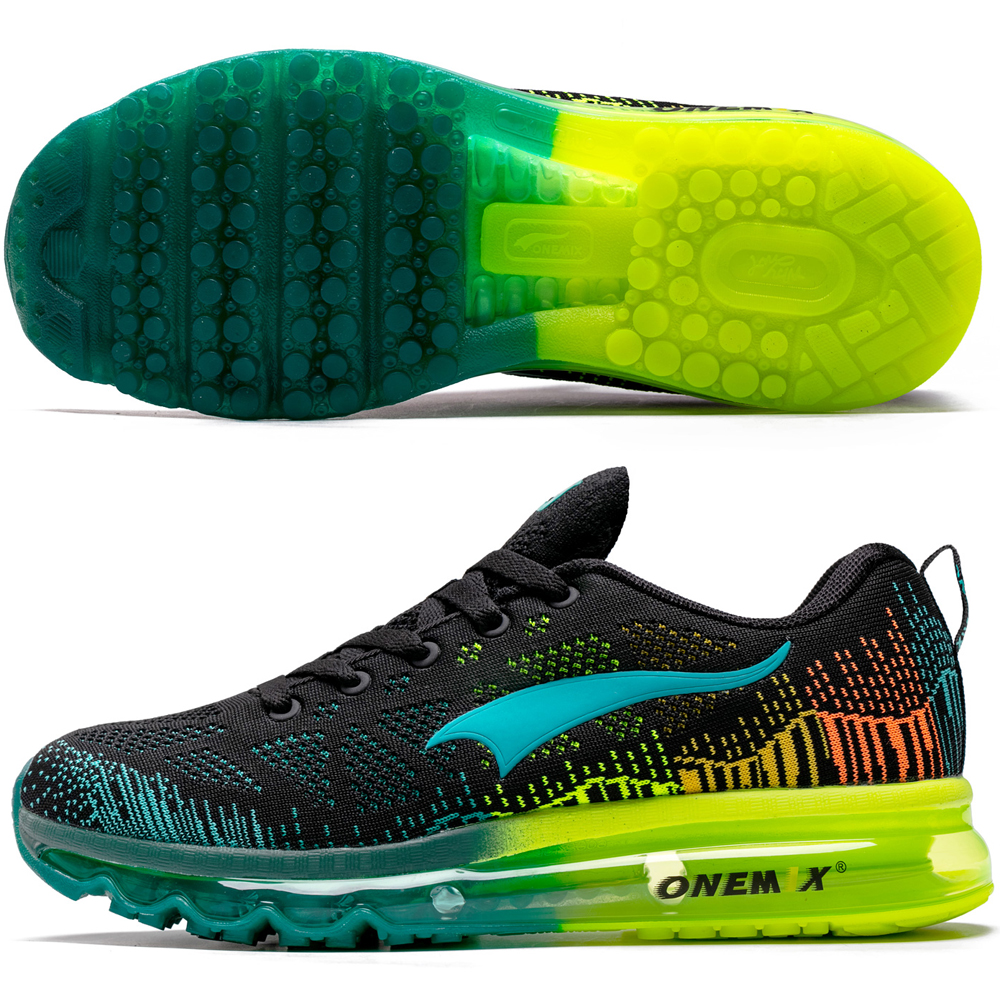 Image 5 - ONEMIX Men Running Shoes Women Air Knit Sneakers Light Outdoor Sport Shoes Air Cushion Althletic Shoes 2019 Newest-in Running Shoes from Sports & Entertainment on AliExpress