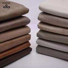 QUANFANG imitación tela de piel para sofá tejido técnico suave acolchado/DIY de coser de tela de mesa muebles tejido cojín de medio metro