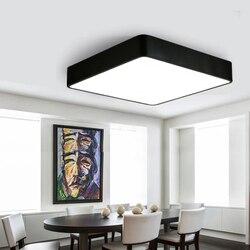 Kwadratowe proste światła lampy sufitowe nowoczesne proste lampy dla domu salon sypialnia restauracja przejściach i korytarzach korytarz z LED biuro