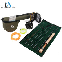 Free Shipping Fast Action Carbon Fiber Fly Rod 9ft 5wt 7pc ALC5 6wt Fly Reel WF