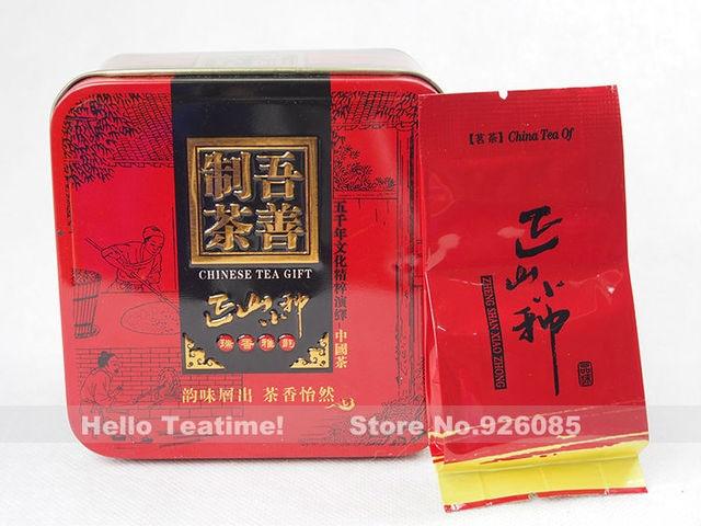 Longan fragrance refine chinese lapsang souchong super wuyi black tea zhengshanxiaozhong hong cha 9bags 45g gift tin can packing