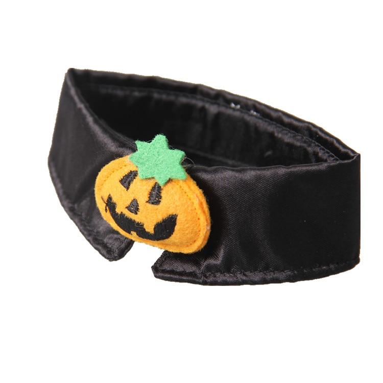 1pc Halloween Mischief Cat Small Dogs Necktie Collar Black Tie Pumpkin Bow-tie For Cat Pet Beauty Supplies #5