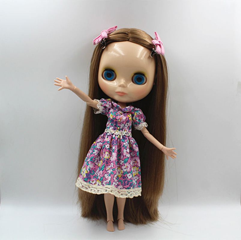 Free Shipping BJD joint RBL-361J DIY Nude Blyth doll birthday gift for girl 4 colour big eyes dolls with beautiful Hair cute toy free shipping bjd joint rbl 415j diy nude blyth doll birthday gift for girl 4 colour big eyes dolls with beautiful hair cute toy