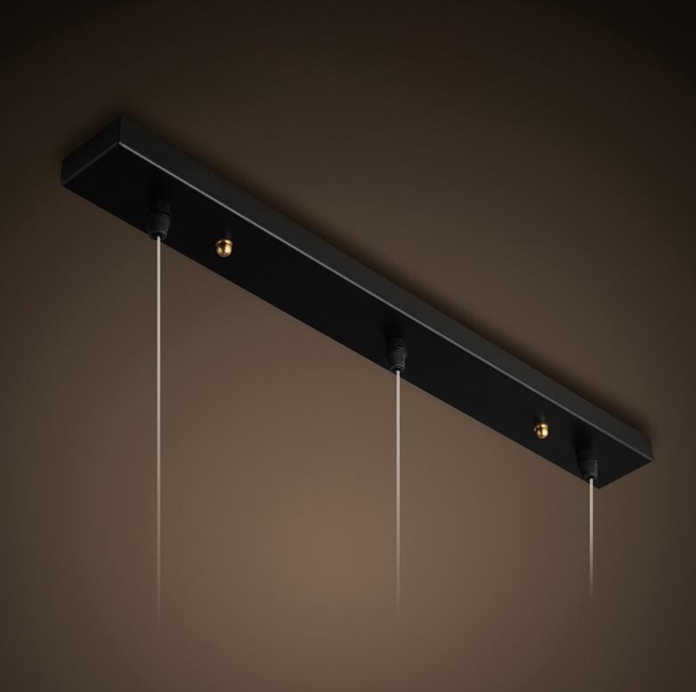 2018 Iron Base 3 Heads Chandelier Lighting Accessories Long Shape 70cm Ceiling Plate Circular Diameter 50cm
