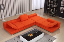 Bright Yellow Color Fabric Sofa Set 0411 AF569