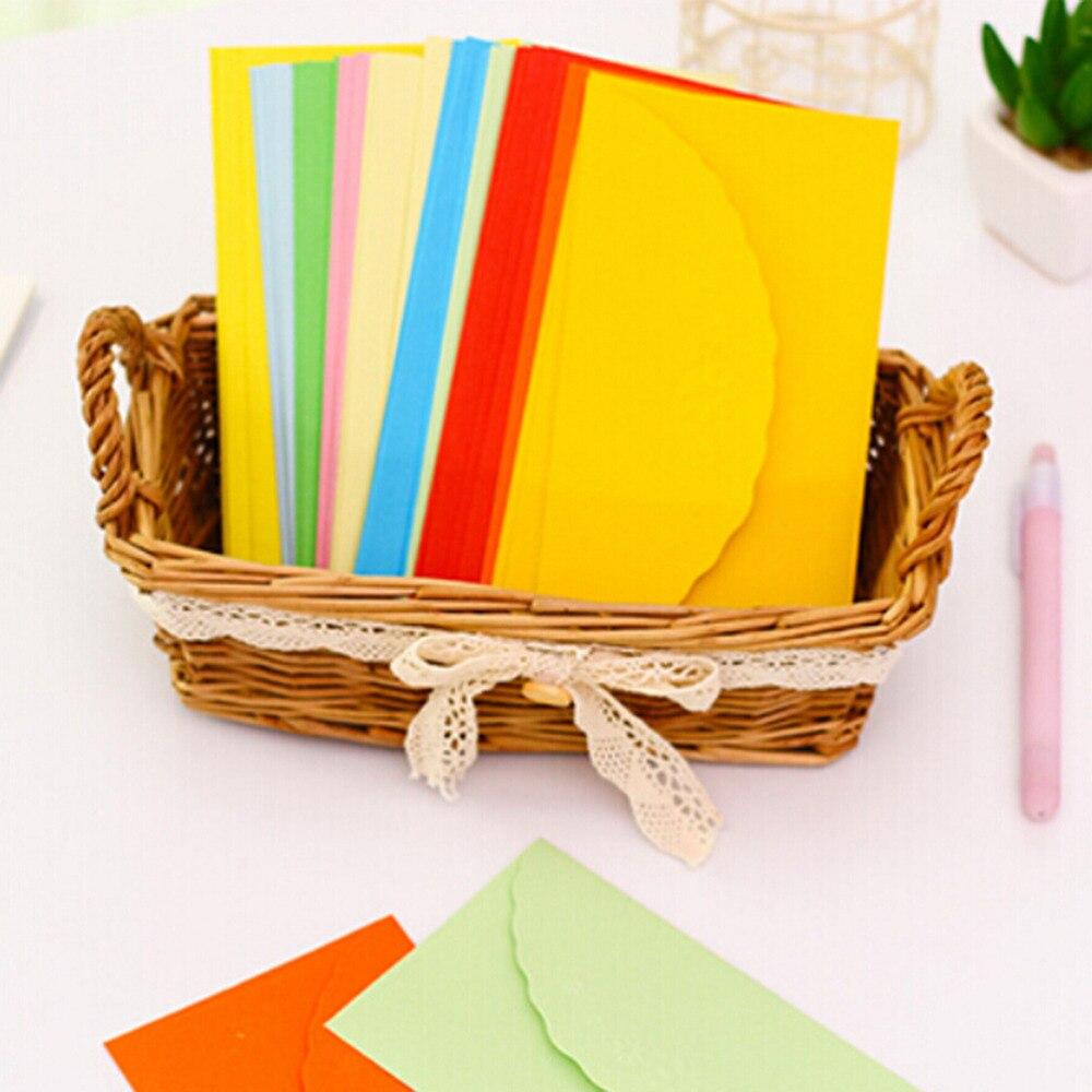 Scrapbook paper case - 5pc Vintage Paper Envelopes For Letters Card Bag Mini Envelope Case Envelopes For Scrapbooking Wedding Letter Invitations