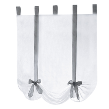 1pcs European style Sling Tie Blinds for Living Room Balcony(grey streamers) 80*140cm
