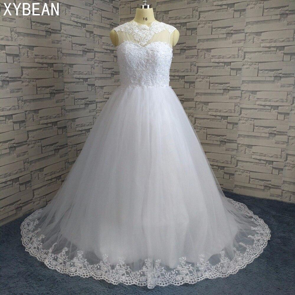 See Through декольте возлюбленной шелковистой органзы аппликации Бисер викторианской бальное платье белый/слоновая кость Свадебные платья