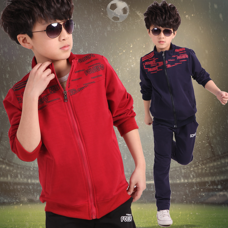 ФОТО Free shipping new arrival spring/autumn children clothing set 100% leisure jacket+pants boy sports suit