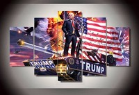 5 Piecesset Hot Sel Modern HD Printed Donald Trump America Painting Wall Art Children S Room