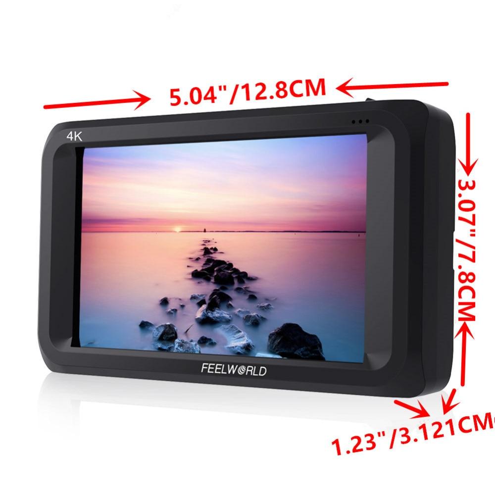 "Image 2 - Feelworld S450 M 4.5 Inch IPS 3G SDI 4K HDMI On camera Field Monitor 4.5"" 1280x800 Camera External LCD Monitor for Cameras DSLRMonitor   -"
