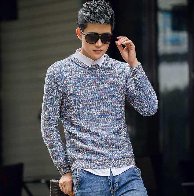 Sweaters New Sweater Arrive Knitted Crew Rabbit Camo Neck Mens Hua L4cAqSj3R5