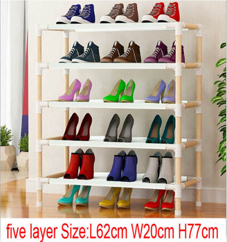 10pcs five layer wooden shoe rack  62cm x 20cm x 77cm