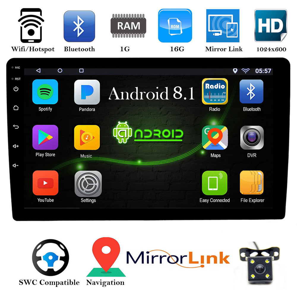 10 1 inch Android 8 1 Car No DVD Multimedia MP5 Player Universal Quad Core  Car Stereo Radio GPS Navigation Autoradio