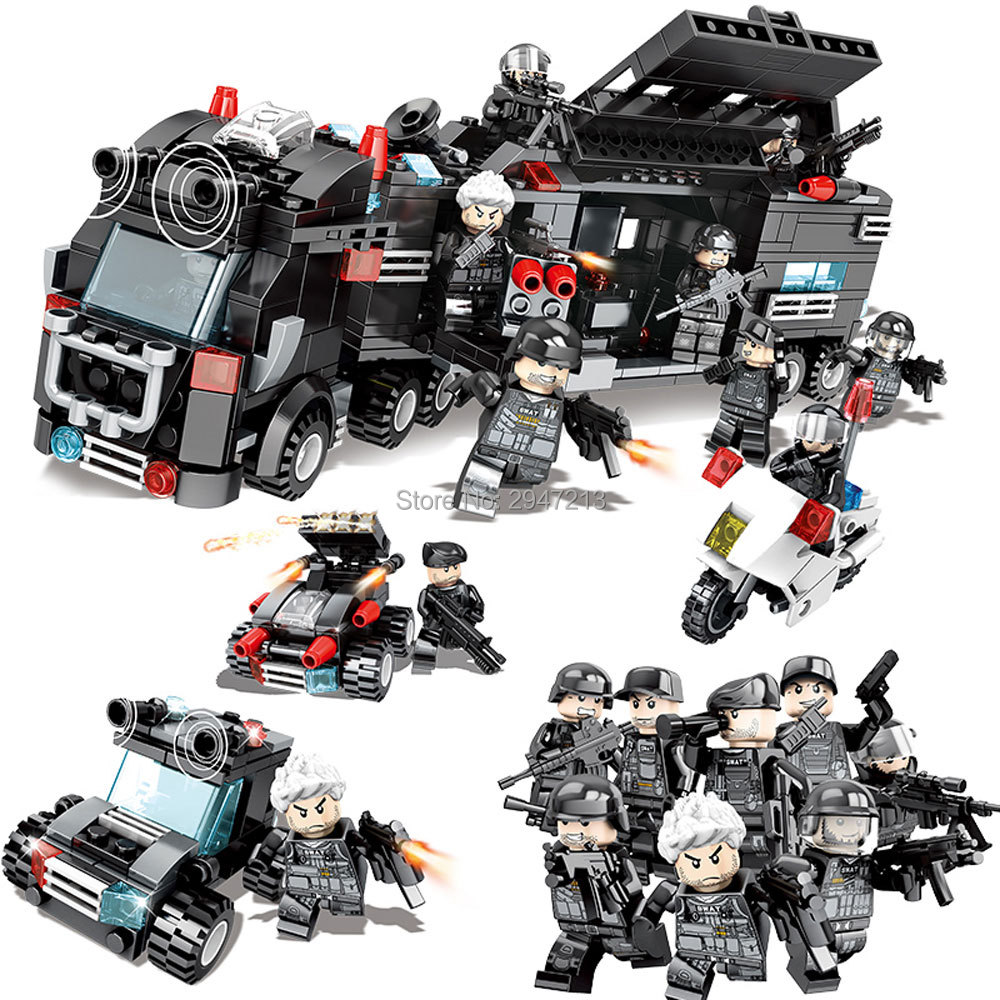 Toys & Hobbies Model Building Fashion Style Military Swat Commando Figures Trucks Building Blocks City Police Star Wars Boy Toys For Children Compatible With Legoings