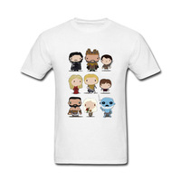 2017 New Arrive Funny Game Of Thrones Characters Funny T Shirt For Men