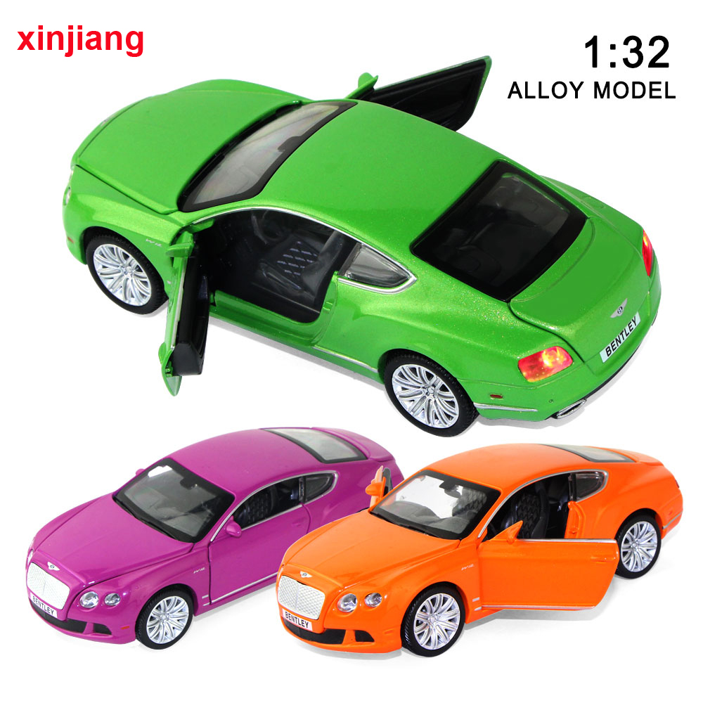 1:32 Scale High Simulation For Bentley GTW12 Model Cars Flashing & Musical Toy Vehicles Collections Car For Kids Adult }