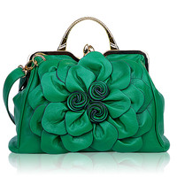 2017 Qiaoduo Leather Rose Flower Women Handbag Fashion Women Crossbag Shoulder Bag