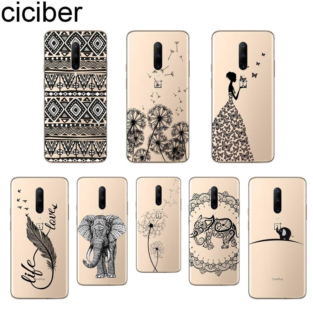 ciciber Elephant Feather Phone Case For font b Oneplus b font font b 7 b font