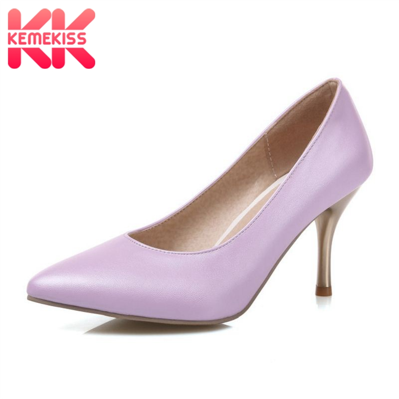 KemeKiss Fashion Women Pumps Candy Colors Sexy High Heels Shoes Women Point Toe Ladies Dress Shoes Zapatos Mujer Size 30-47 apoepo brand 2017 zapatos mujer black and red shoes women peep toe pumps sexy high heels shoes women s platform pumps size 43