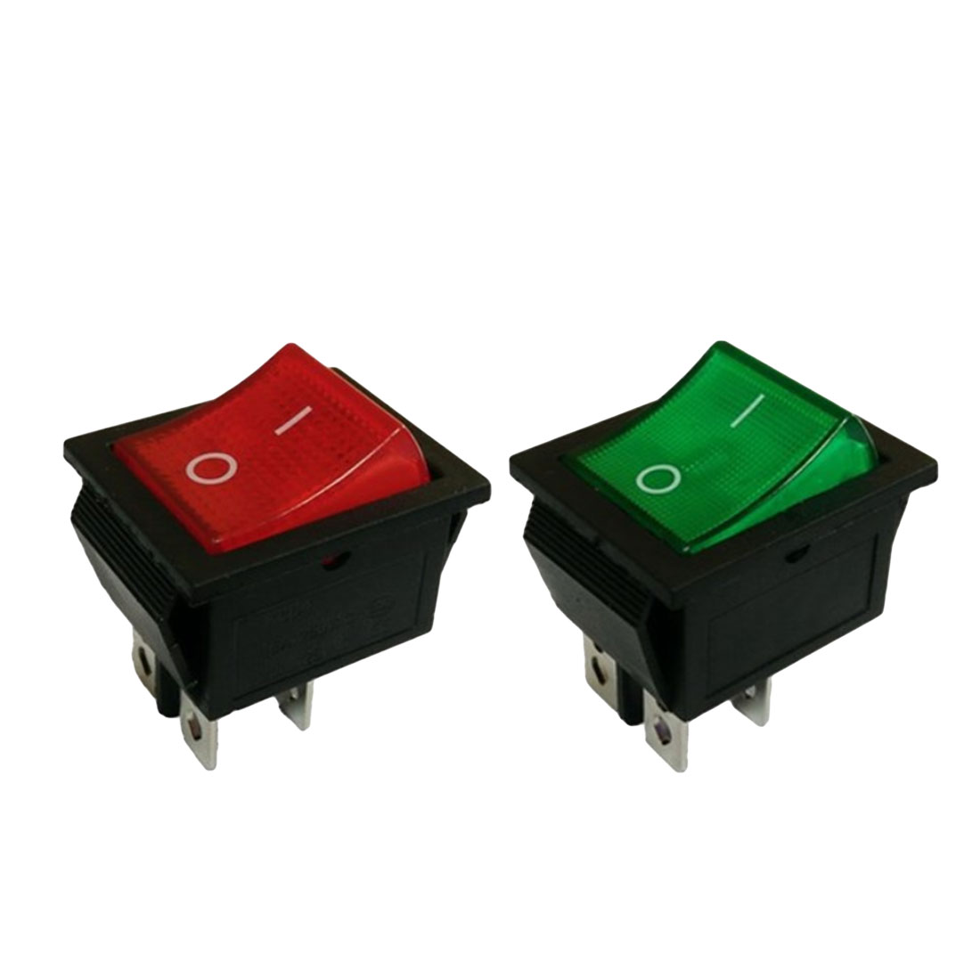 1pcs Promotion Light 4 Pin DPST ON/OFF Snap in Boat Rocker Switch 10A/220V AC Green Red 5pcs black oval rocker boat switch 3pins single pole double throw 3positions on off on snap in panel mount 10a 125vac 6a 250vac