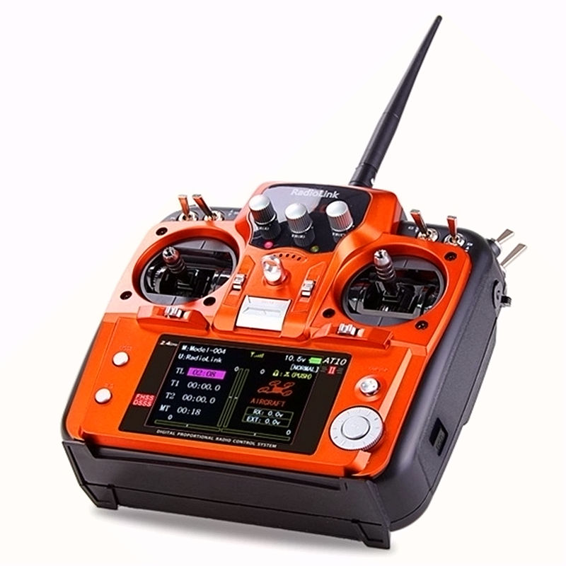 RadioLink AT10 II transmitter RC radio control 2.4G 12CH Remote Control System with R12D II Receiver for helicopter airplane freeshipping radiolink 2 4ghz 10 channel at10 transmitter radio