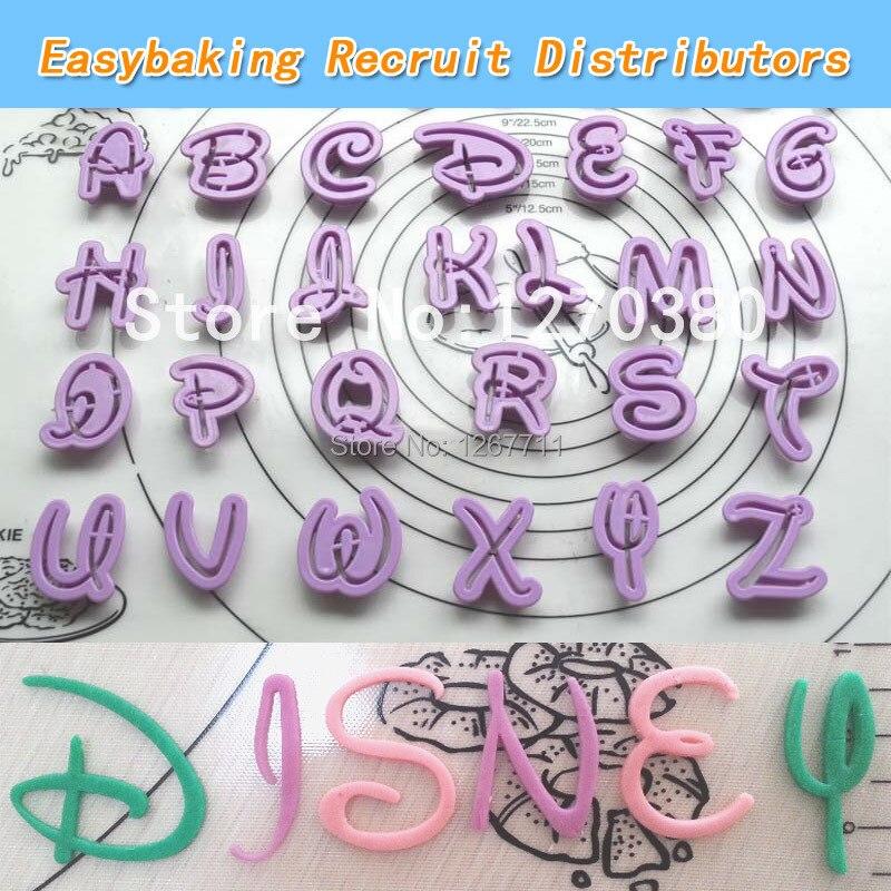 easybaking cartoon font letter cake cookie cutter for fondant cake decoration gumpaste alphabet cutter baking tools