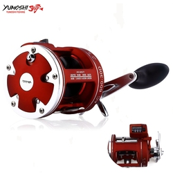YUMOSHI ACL30/50D 12BB szybki kołowrotek 5.2:1 stosunek z elektrycznym liczeniem głębokości lewy/prawy mnożnik koło bębna