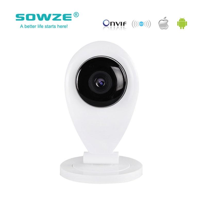 SOWZE 720P HD Security IP Camera Wifi Camera H.264 ONVIF P2P Surveillance Camera Baby monitor night vision Network daytech ip camera 720p hd home security camera wifi surveillance baby camera h 264 infrared ir cut night vision p2p dt c8818
