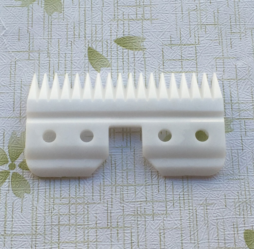 Gratis frakt 6st / lot 18teeth keramik flyttande blad reservdelar med blisterpaket plast guide gratis