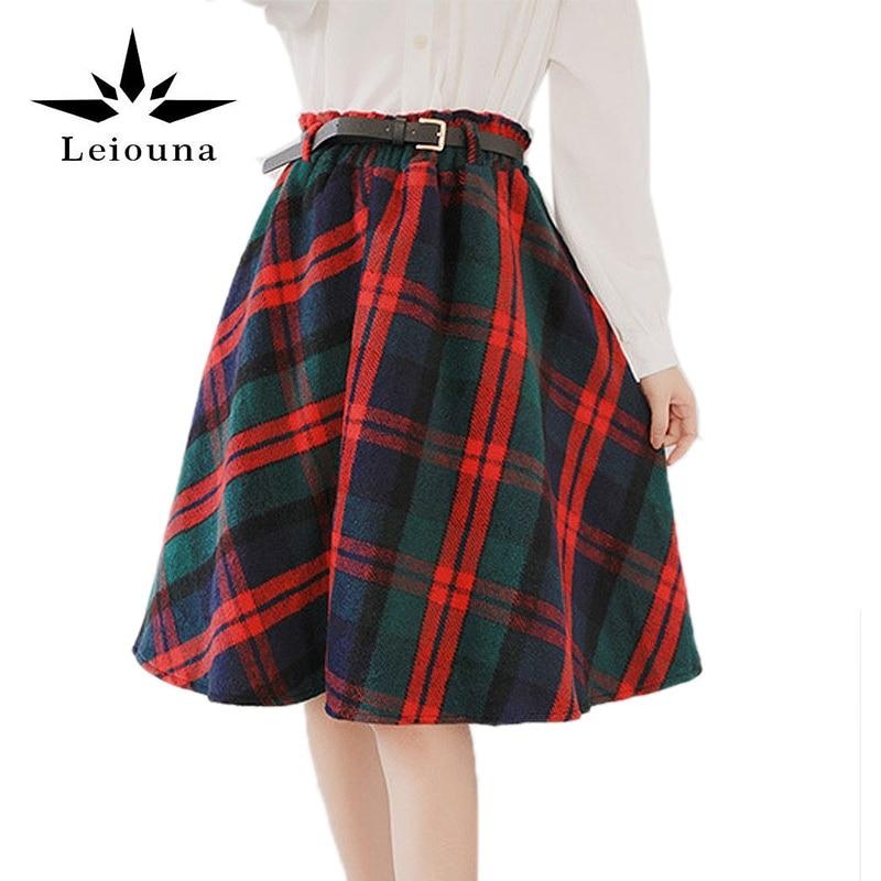 Molto Leiouna 2017 nuovo autunno di stile scozzese plaid donne warm  UD85