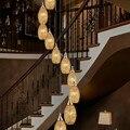 Индивидуальные Современные минималистичные Европейские виллы с двойной лестницей подвесные светильники для гостиной столовой Бар лампы ...