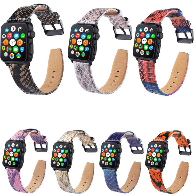 Watch Accessories Generous Cow Leather For Apple Watch 38mm 42mm 40mm 44mm For Iwatch Series 4/3/2/1 Real Leather Colorful Strap Bracelet Watchband Cheap Sales Watches