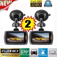 """Auto 2x Auto 1080 P 2.4 """"Full HD DVR Macchina Fotografica Del Veicolo Dash Cam Video Recorder G-sensore di Visione visione feb20"""
